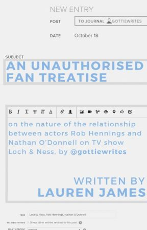 An Unauthorised Fan Treatise - by LaurenJamesauthor