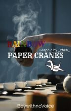 Rainbow Paper Cranes by BoywithnoVoice