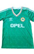 1990 Ireland Home Green Soccer Jersey by Rideep99
