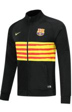 19/20 Barcelona Black&Yellow High Neck Collar Training Jacket by Rideep99