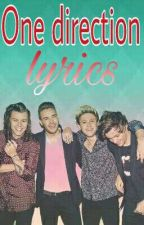 one direction song lyrics (complete) by impink27