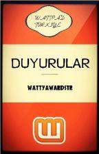 Watty Awards Türkiye - Duyurular by WattyAwardsTR