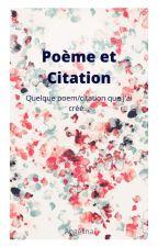 Poem et citation by alavoie10