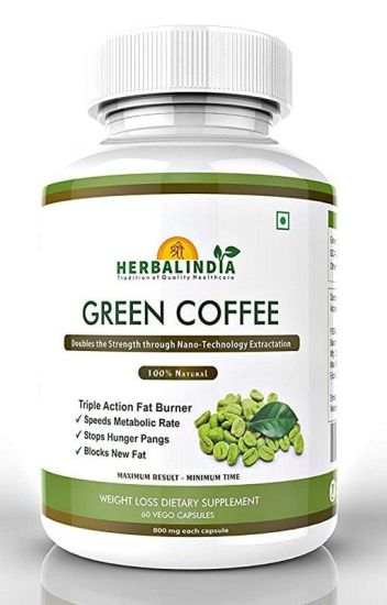 Shree Herbal India Green Coffee Bean Weight Loss Supplements