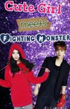 Cute Girl meets Fighting Monster by zhaferian_09