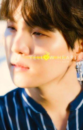 yellow hearts   scraps