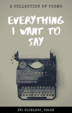 everything i want to say by clueless_chloe