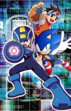 SONIC X MEGAMAN NT WARRIOR  by ernsts22