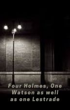 Four Holmes, one Watson as well as one Lestrade by Is_Power_Great