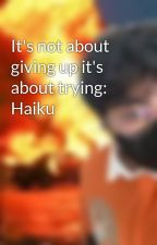 It's not about giving up it's about trying: Haiku by KeithDamian8