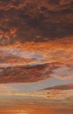 peonies and orange skies by Jasokay