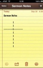 Sermon Notes by SethMosley
