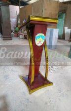 Tlp/WA : 085 290 206 219, Ukiran Mimbar Masjid Promo Stock Podium by postingku143