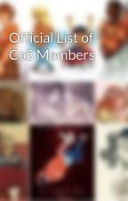 Official List of CoS Members by CoSOfficial