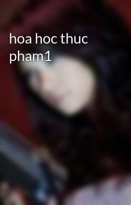 hoa hoc thuc pham1