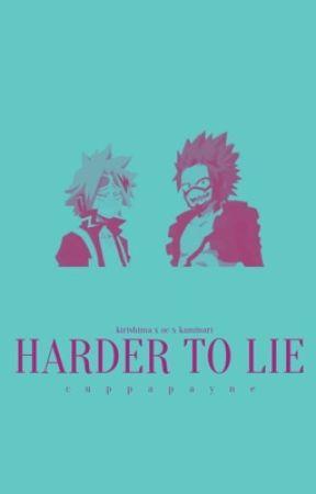 Harder to Lie   e. kirishima x oc x d. kaminari  (au) by cuppapayne