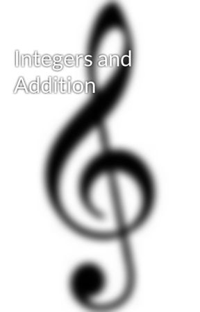 Integers And Addition Addition Of Integers Wattpad