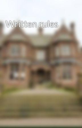 Written rules by Amun-Boarding-School