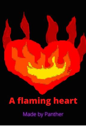 A flaming heart by ThePurplePantherCat