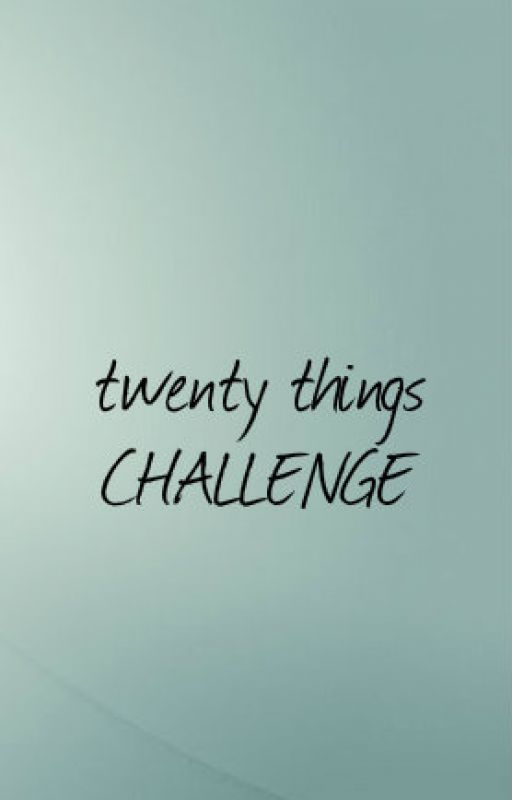 Twenty Things Challenge by bouncycheese