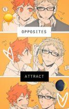 Opposites Attract (Tsukishima x Hinata) by Cronchylili