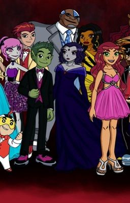 Teen titans love story of raven and beast boyrobin and