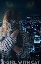Девушка   с кошкой by Lera__11