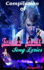 Taylor Swift Song Lyrics by joysyyy