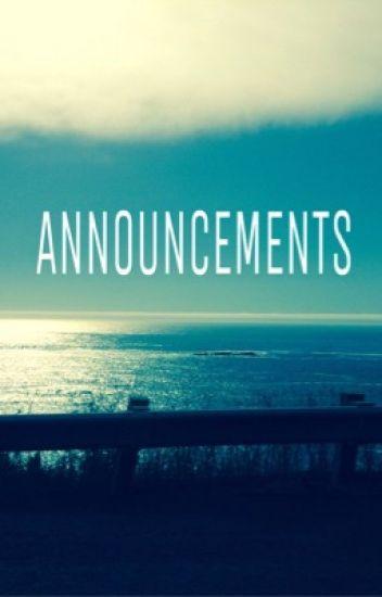 •Announcements•