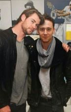 Tom Hiddleston x Chris Hemsworth by a-hobo-in-a-box