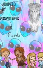 Adopted by Pewdiepie and Marzia by Dark_turquoise_eyes