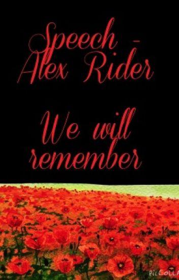 Speech- Alex Rider