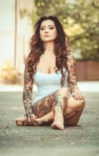The girl with the tattoos by Bandnerdbeauty_07