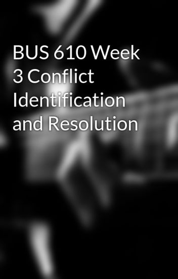conflict identification and resolution