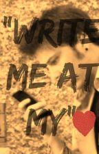"""""""Write Me At My"""" - Rubén Doblas y Tú- by cristihe123"""
