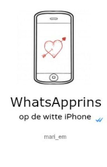 WhatsApprins op de witte Iphone