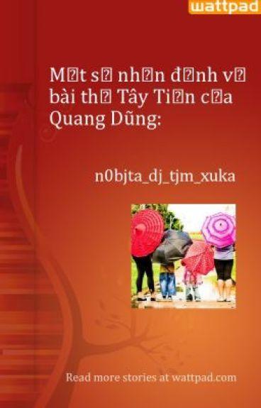 Một số nhận định về bài thơ Tây Tiến của Quang Dũng: