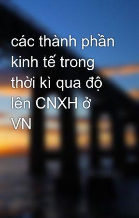 các thành phần kinh tế trong thời kì qua độ lên CNXH ở VN by congiolac