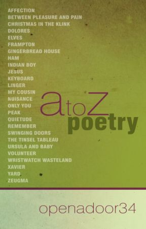 A to Z Poetry by openadoor34