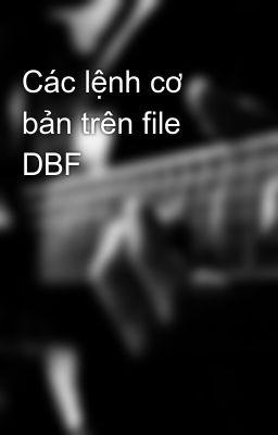 Các lệnh cơ bản trên file DBF
