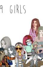 9 girls by Divyrocks