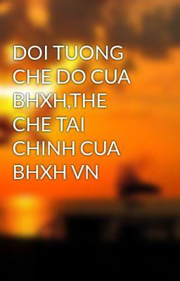 DOI TUONG CHE DO CUA BHXH,THE CHE TAI CHINH CUA BHXH VN