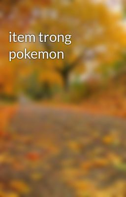item trong pokemon