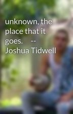 unknown, the place that it goes.     --  Joshua Tidwell by JoshuaYehoTidwell
