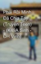 Phải Rồi Mình Đã Chia Tay (Truyện Teen) - (K49A Sinh - ĐH Vinh) by quangxuyen88