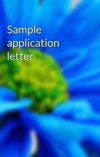 Sample application letter by refiels