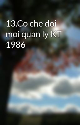 13.Co che doi moi quan ly KT 1986