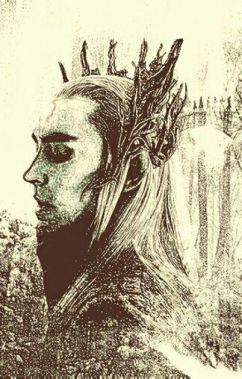 Left behind(Hobbit/Thranduil fanfiction)