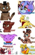 Five nights at Freddys 1 and 2 (questions and dares) by DaSmexyDemonKitten