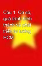 Câu 1: Cơ sở, quá trình hình thành và phát triển tư tưởng HCM by hoa2112